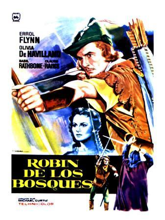 The Adventures of Robin Hood, Spanish Movie Poster, 1938