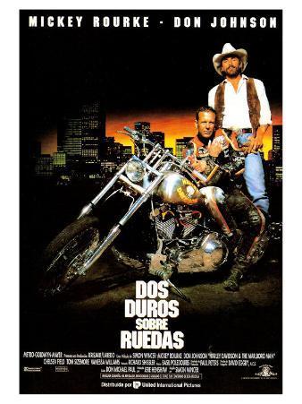 Harley Davidson and the Marlboro Man, Spanish Movie Poster, 1991