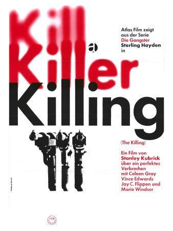 The Killing, German Movie Poster, 1956