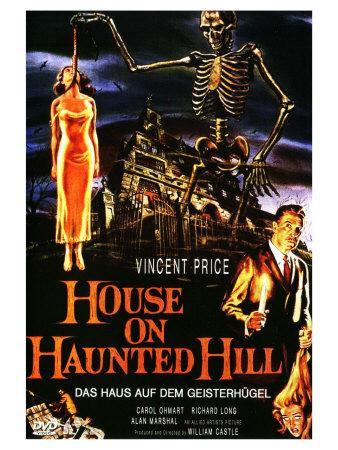 House On Haunted Hill, German Movie Poster, 1958