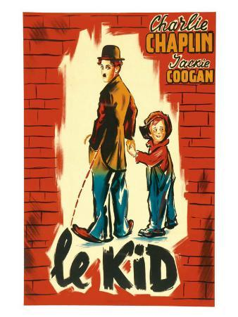 The Kid, French Movie Poster, 1921
