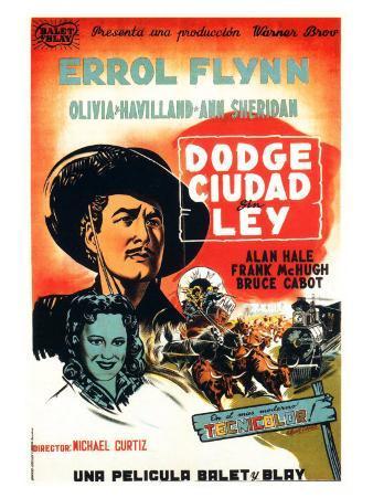Dodge City, Spanish Movie Poster, 1939