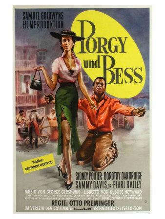 Porgy and Bess, German Movie Poster, 1959