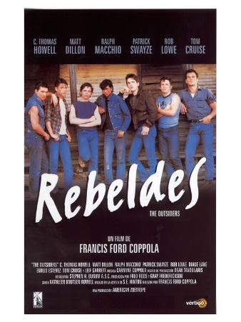 The Outsiders, Spanish Movie Poster, 1982