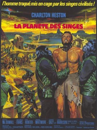 Planet of the Apes, German Movie Poster, 1968