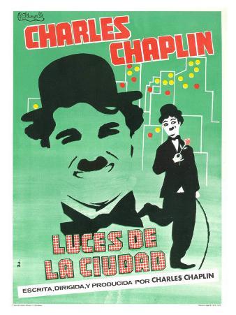 City Lights, Spanish Movie Poster, 1931