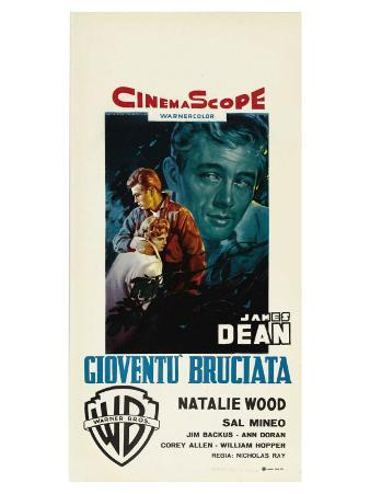 Rebel Without a Cause, Italian Movie Poster, 1955