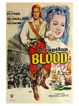 Captain Blood, Spanish Movie Poster, 1935
