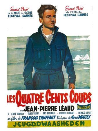 400 Blows, Belgian Movie Poster, 1959