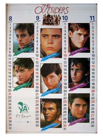 The Outsiders, Japanese Movie Poster, 1982