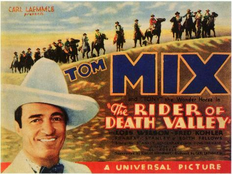 the rider of death valley Tom Mix 1932 movie poster print