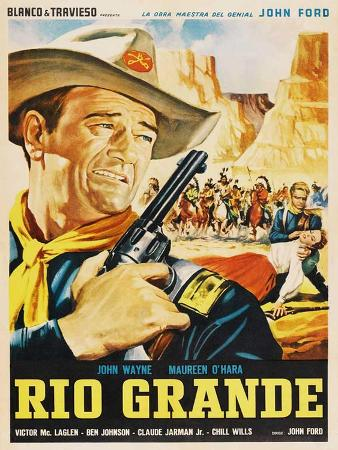 Rio Grande, Mexican Movie Poster, 1950