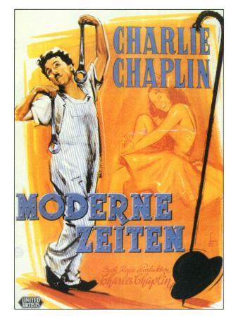 Modern Times, German Movie Poster, 1936