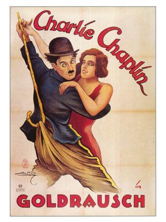 The Gold Rush, German Movie Poster, 1925