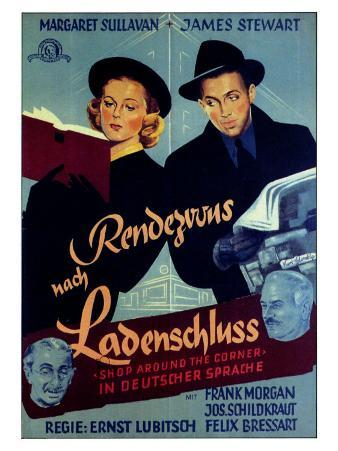 The Shop Around the Corner, German Movie Poster, 1940
