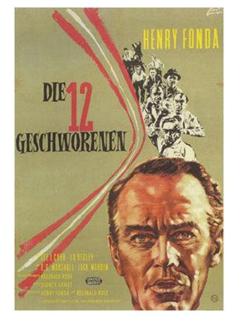 12 Angry Men, German Movie Poster, 1957