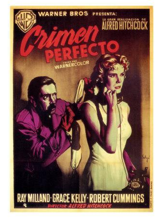 Dial M For Murder, Spanish Movie Poster, 1954