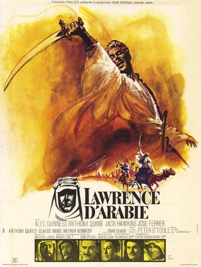 Lawrence of Arabia, French Movie Poster, 1963' Art - | AllPosters.com