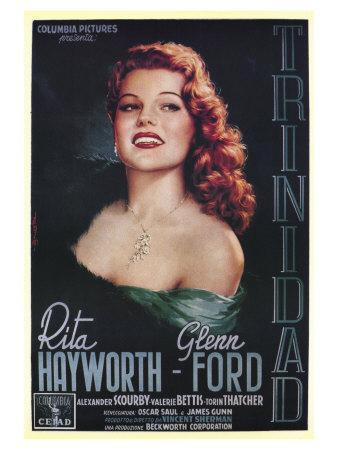 Affair in Trinidad, Italian Movie Poster, 1952