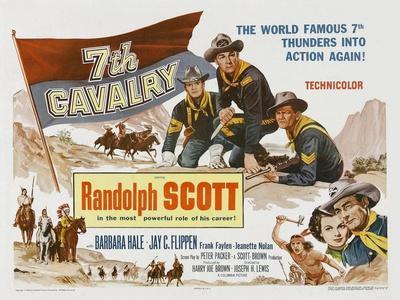 7th Cavalry, UK Movie Poster, 1956