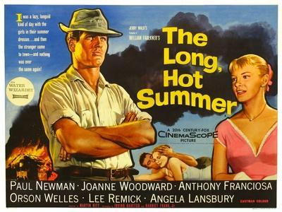 The Long Hot Summer, UK Movie Poster, 1958