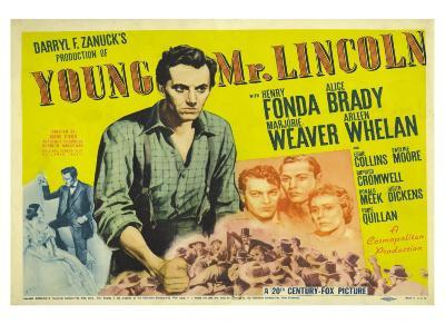 Young Mr. Lincoln, UK Movie Poster, 1939
