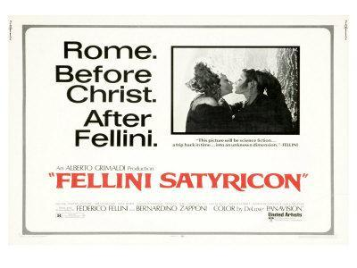 Fellini Satyricon, UK Movie Poster, 1969