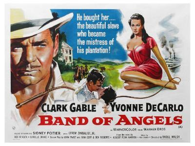 Band of Angels, UK Movie Poster, 1957