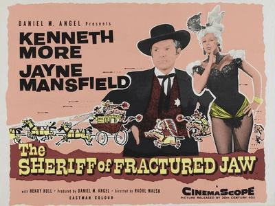The Sheriff of Fractured Jaw, UK Movie Poster, 1958