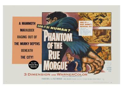 Phantom of the Rue Morgue, UK Movie Poster, 1954