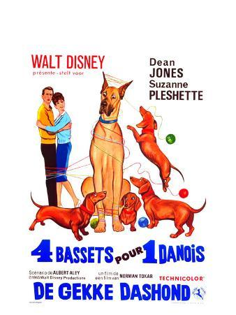 The Ugly Dachshund, Belgian Movie Poster, 1966