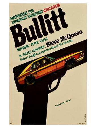 Bullitt, Polish Movie Poster, 1968