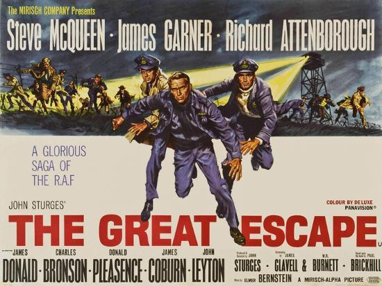 The Great Escape, UK Movie Poster, 1963' Prints | AllPosters.com