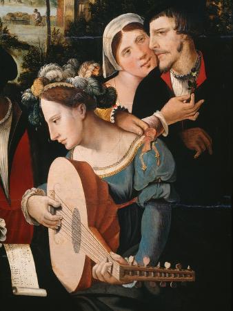 Gallant Scene or The Five Senses (Lute player and couple)