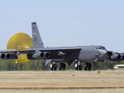 B-52 Stratofortress Deploys its Drag Chute