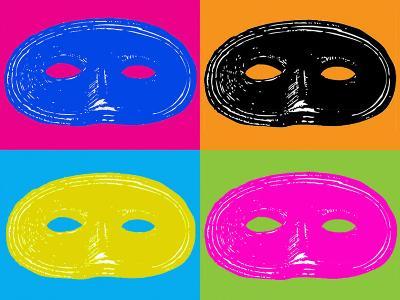 Four Mardi Gras, Halloween Mask