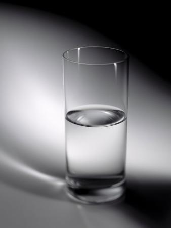 Still Life Glass of Water Half Full