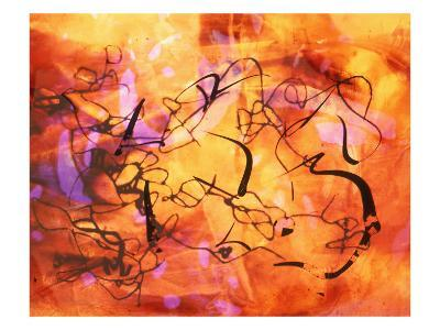 Abstract Image in Red, Yellow, and Black