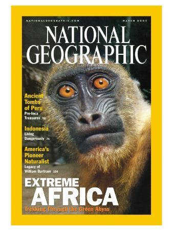 Cover of the March, 2001 National Geographic Magazine