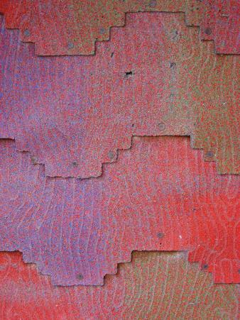 Close View of Shingles on a Wall