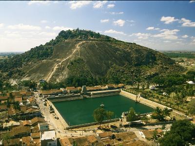 Jain Sacred Lake and Vindhyagiri Hill at Sravanabelagola