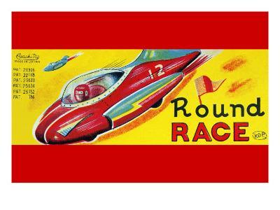 Round Race Rocket Car