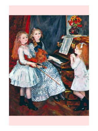 Portrait of The Daughters of Catulle Mend?At The Piano