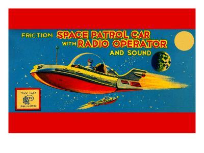 Space Patrol Car with Radio Operator