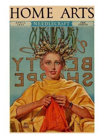 Woman In Curlers Knits