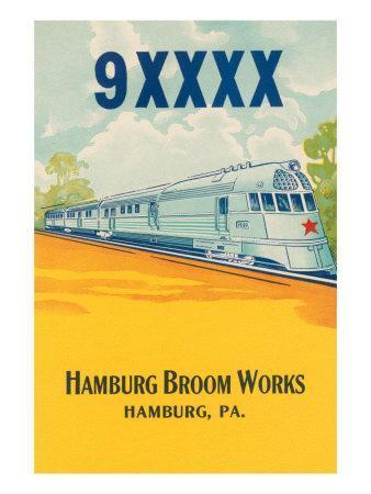 Bullet Train Broom Label