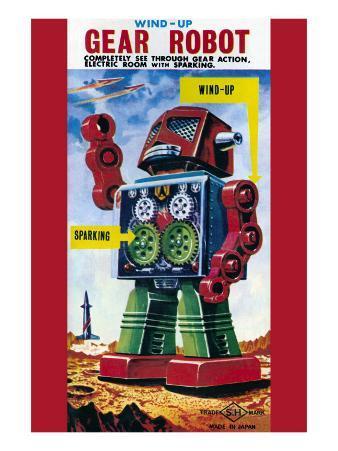 Wind-Up Gear Robot