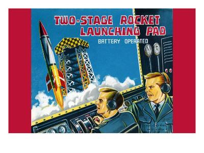Two-Stage Rocket Launching Pad