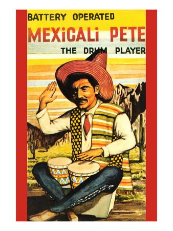 Battery Operated Mexicali Pete; The Drum Player
