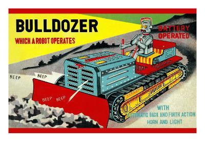 Bulldozer Which a Robot Operates